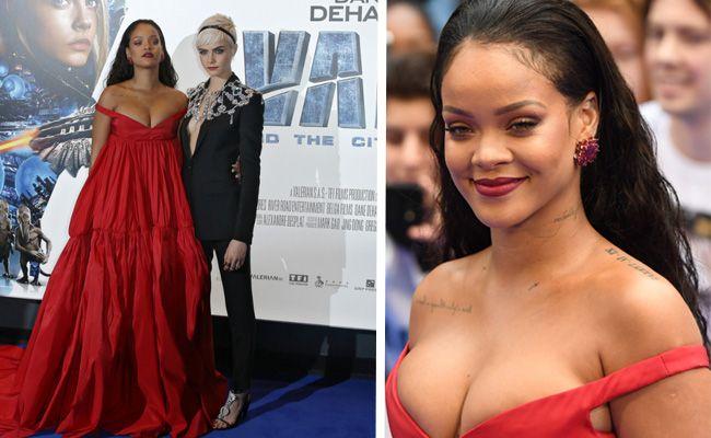 """Rihanna und Cara bei der Premiere von """"Valerian""""."""