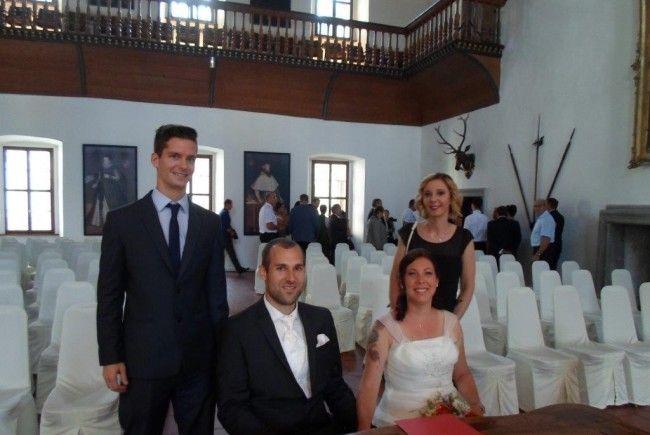Rebekka Dukaric und Ulrich Ennsmann feierten ihre standesamtliche Trauung.