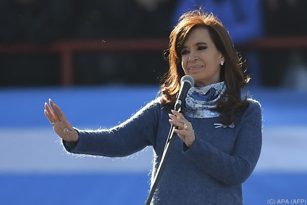 Polit-Comeback geplant: Cristina Kirchner bei einer Rede im Juni