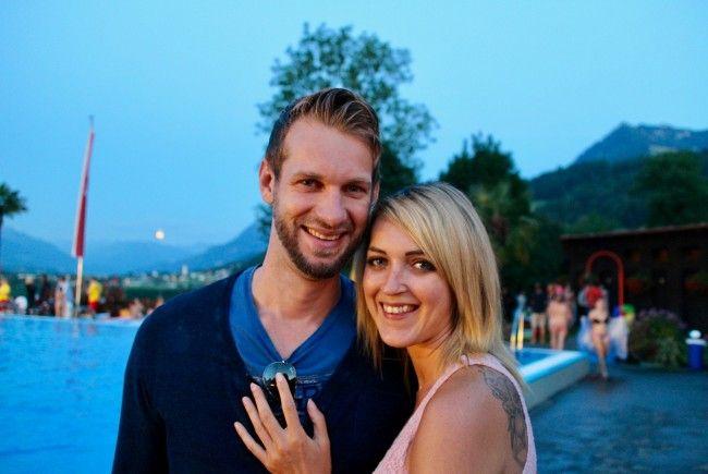 David und Natalie aus Altach genossen die tolle Stimmung in der Felsenau.