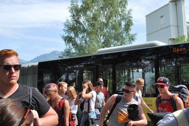 Zum Festival Gelände besteht ein Shuttlebus von Hohenems und Lustenau