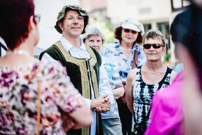 Feldkircher Themenführung mit Graf Hugo von Montfort im Kostüm