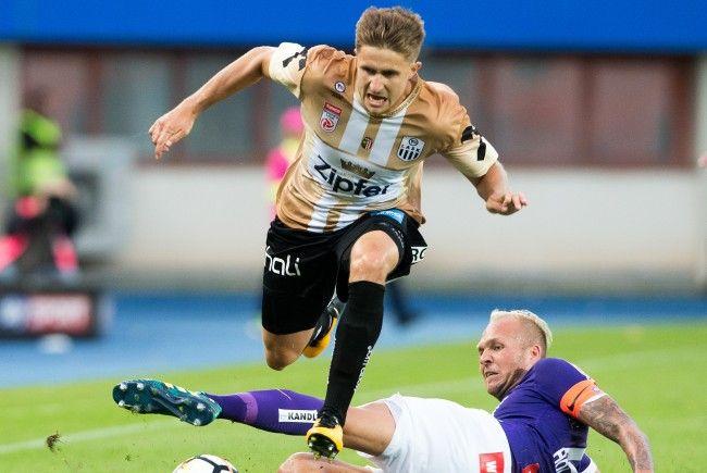Reinhold Ranftl (LASK) und Raphael Holzhauser (FK Austria Wien) trafen beim Bundesliga-Spiel aufeinander.