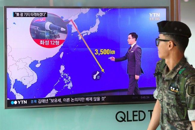 Nordkorea droht mit Angriff mit ballistischen Raketen auf Guam