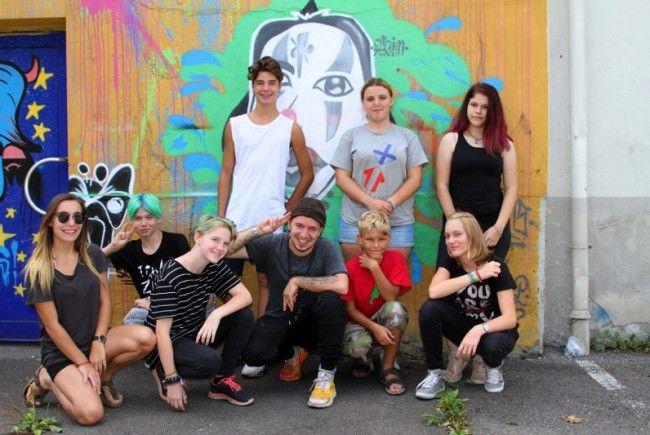 Vor allem viel Spaß mit vielen bunten Farben hatten die Teilnehmer beim Graffiti-Workshop beim Planet.