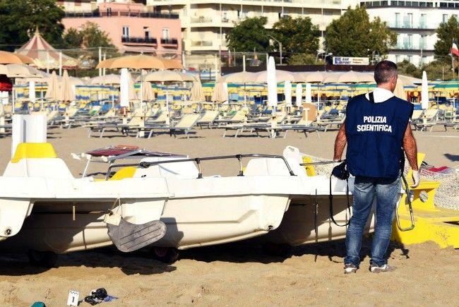 An diesem Strand in Rimini wurden in einer Nacht mehrere Menschen angegriffen.