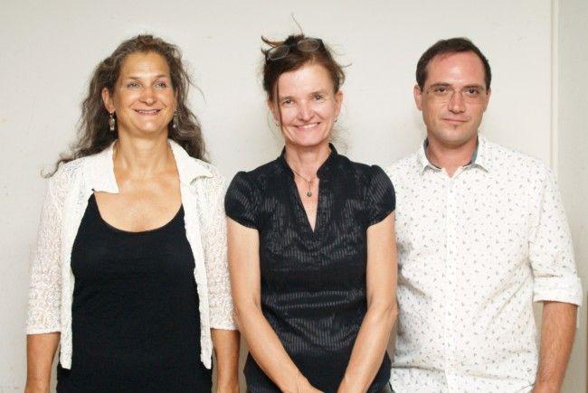 Choreographin Ursula Sabatin, Regisseurin Brigitta Soraperra und Bühnenbildner Pascal Raich