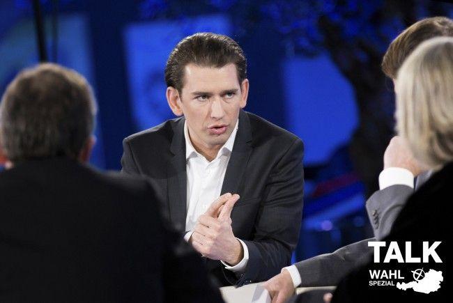 Drei Wähler diskutieren mit Sebastian Kurz.