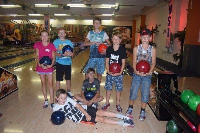 Auch beim bowlen haben die Kids viel Spaß