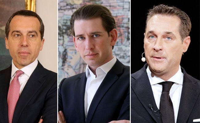 Wer wird der nächste Bundeskanzler - Kern, Kurz oder Strache?