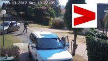 Frau entkommt Überfall vor dem eigenem Haus