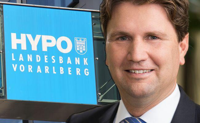 Michel Haller, Vorstandsvorsitzender der Hypo Vorarlberg ist zufrieden mit der halbjahresbilanz seiner Bank.