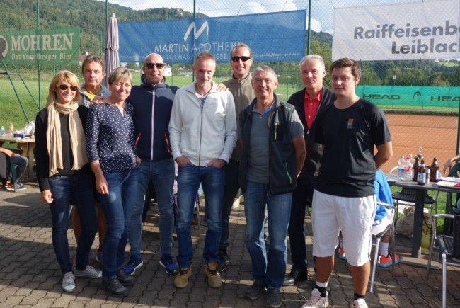 Die Finalisten der Lochauer Tennis-Vereinsmeisterschaft.