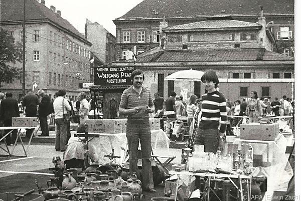 Archivbild aus dem Jahre 1977, dem Gründungsjahr des Flohmarktes