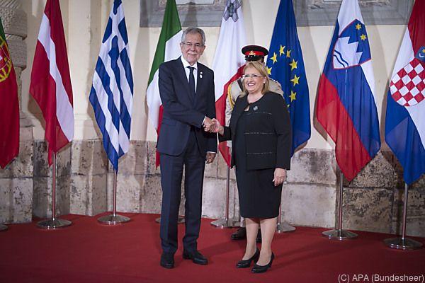Präsident Van der Bellen zur Zeit in Malta