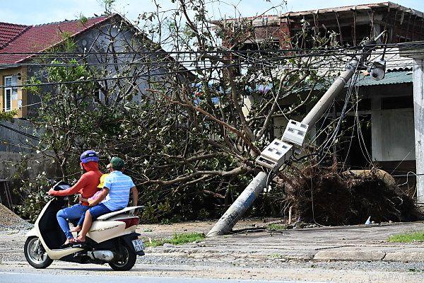Der Taifun sorgte für schwere Verwüstungen
