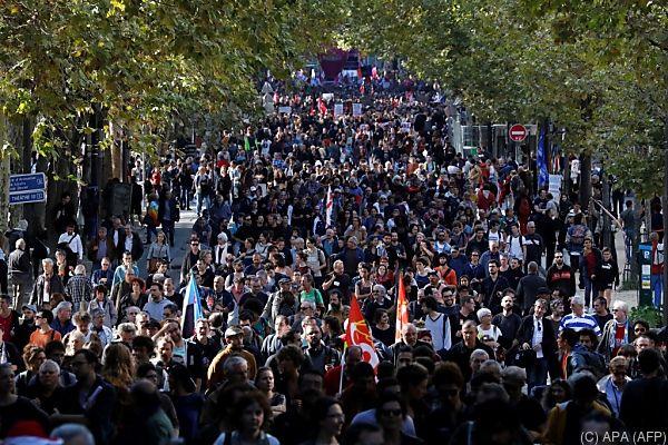 Neue Demonstrationen gegen Macrons Arbeitsmarktreform