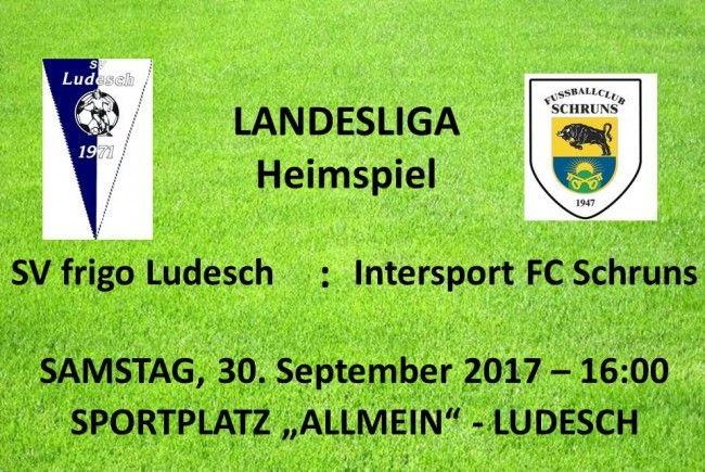 SV frigo Ludesch – Heimspiel gegen den FC Schruns