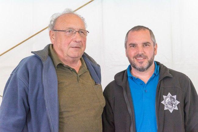 Wurden bei der 50-Jahr-Feier der Funkenzunft Vandans geehrt: Edwin Wachter (li) und Markus Pfefferkorn (re)