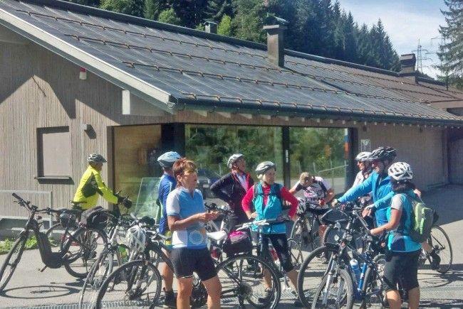 Radteam per pedales auf Tour im Klostertal