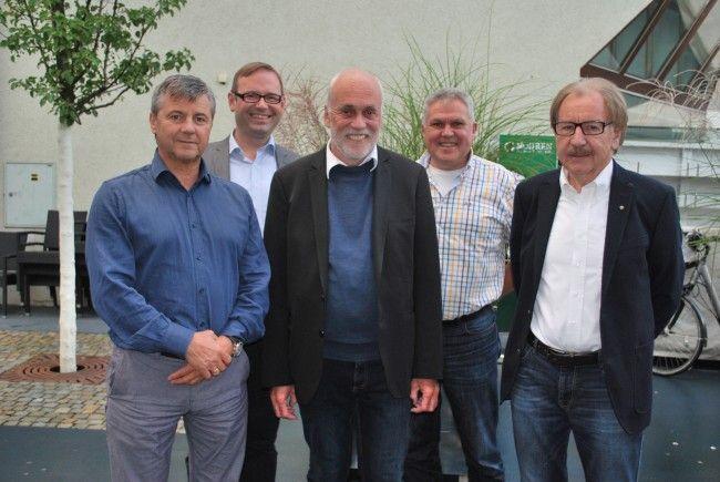 Klaus Herburger, Daniel Steinhofer, Manfred Hagen, Günter Thurnher, Ulrich Wachter
