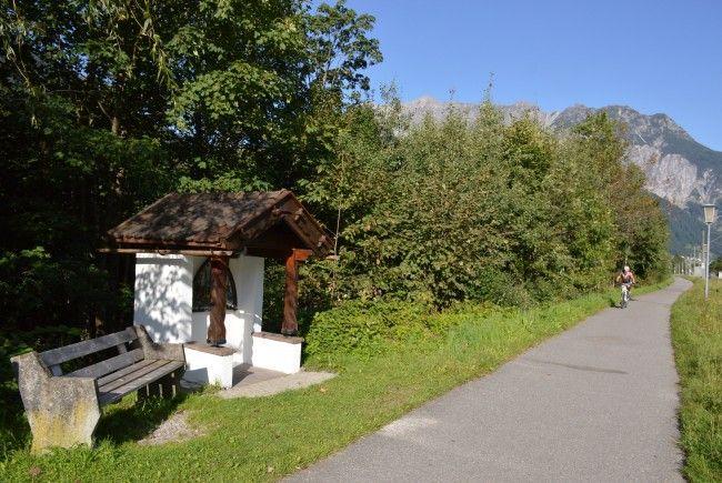Der Bildstock am Radweg Kaltenbrunnen in Bartholomäberg-Gantschier