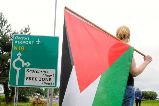 Palästina Fahnen in ganz Irland