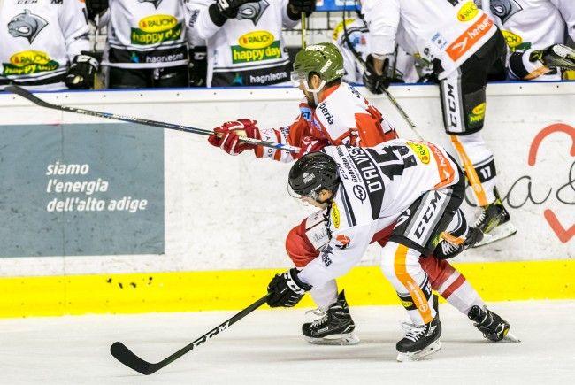 Die Dornbirner Bulldogs verlieren klar in Bozen beim HCB Südtirol.