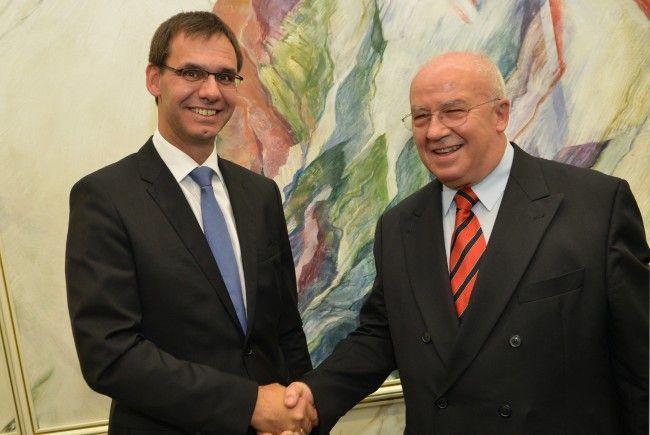 LH Wallner mit Jürgen Weiss.