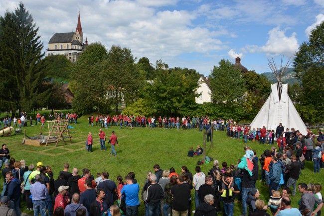 Die Pfadfinder Rankweil feierten ein Megafest zum neuen Vereinsjahr