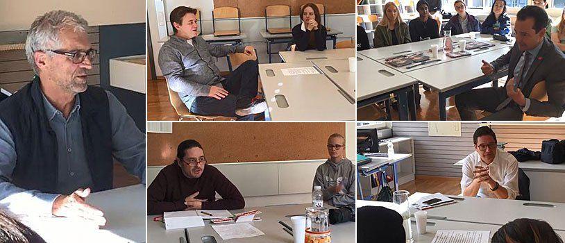 """""""Politics to go"""" - Vorarlberger Politiker stellen sich den Fragen von Schülern"""