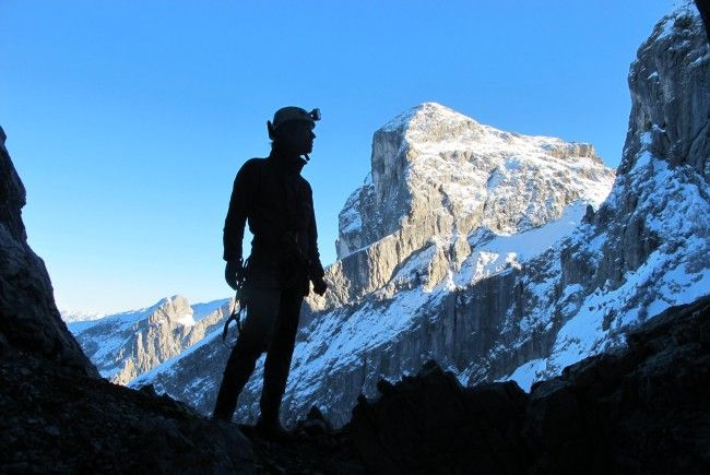 Alexander Klampfer gibt Einblick in die Tätigkeiten des Vorarlberger Höhlenvereins.