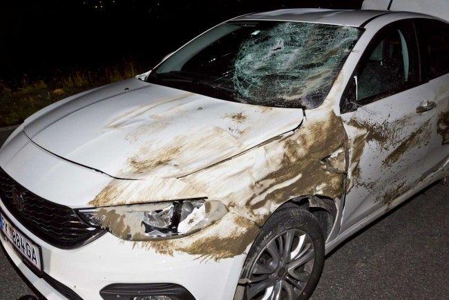 Bei dem Unfall entstand Totalschaden am Auto.