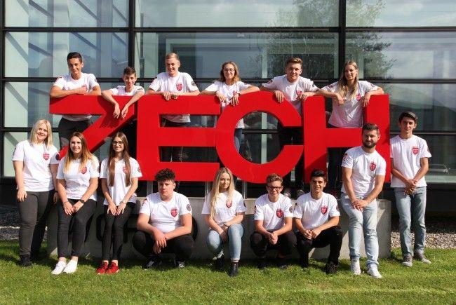 Für frischen Wind sorgen bei der ZECH Gruppe 15 neue Lehrlinge, die Anfang September ihre Ausbildung begonnen haben.
