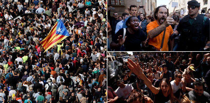Wut auf Kataloniens Straßen - Stimmung kippt nach Spaniens Razzien bedrohlich
