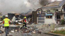 Schwere Explosion in Einfamilienhaus