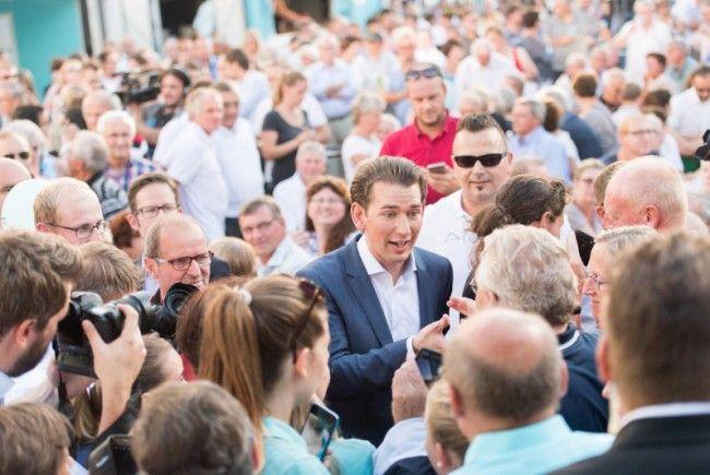 Sebastian Kurz liegt in den Umfragen deutlich voran