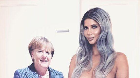 Micaela Schäfer: Nackt-Support für Angela Merkel.