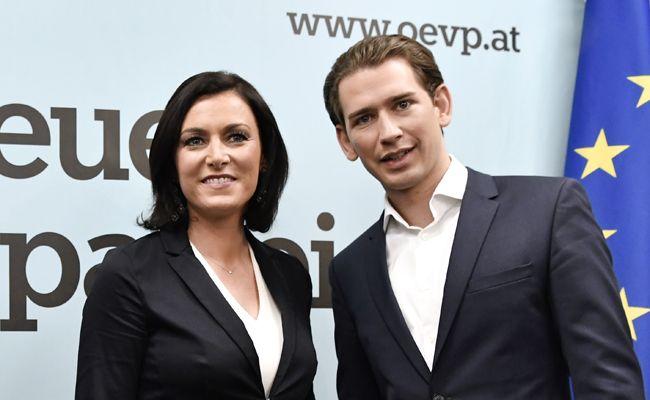ÖVP-Generalsekretärin Elisabeth Köstiner mit Parteiobmann Sebastian Kurz.