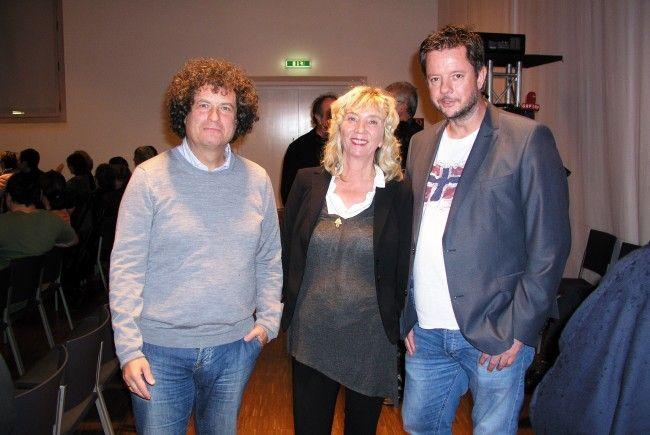 Dr. Hanno Loewy mit Ingrid Bertel und Nicolai Dörler