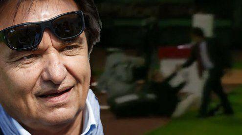 Eklat im Schweizer TV: Präsident schlägt Fußball-Experten nieder
