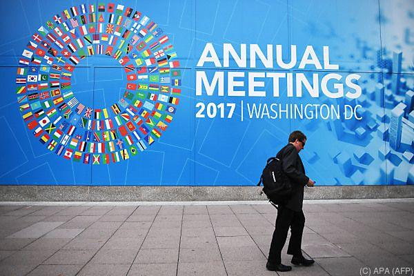 Jahrestagung des IWF in Washington DC