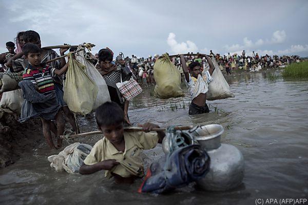 Rohingya wurden mit Gewalt vertrieben