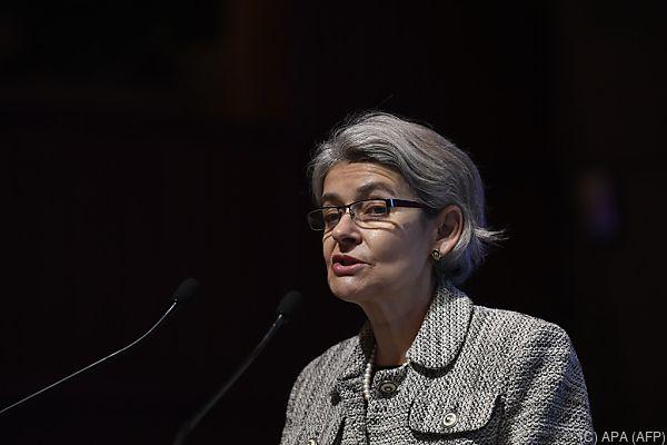 UNESCO-Generaldirektorin Irina Bokova wurde von den USA informiert