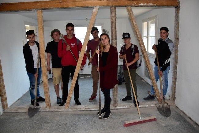 Im Marte-Areal entsteht eine neue Holz- und Nähwerkstatt für die Offene Jugendarbeit Rankweil.