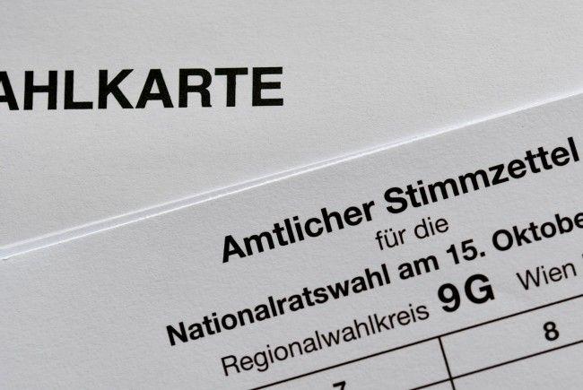 39.000 Vorarlberger möchten mit Wahlkarte wählen.