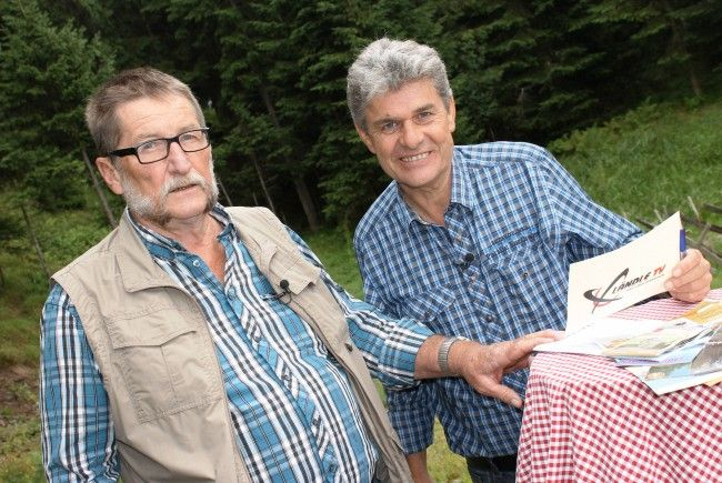 Mit Hans Netzer unterhielt sich beim letzten Ländle-Talk-on-Tour Günter Oberscheider am Hugelsee am Kristbergsattel