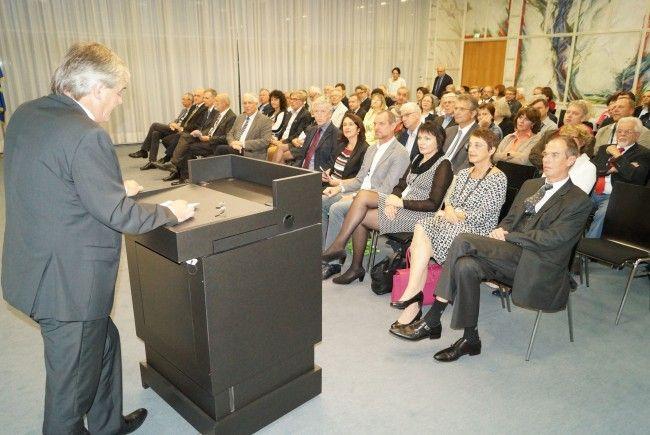 Internationales Bodenseetreffen Höherer Lehrkräfte im Landhaus in Bregenz.