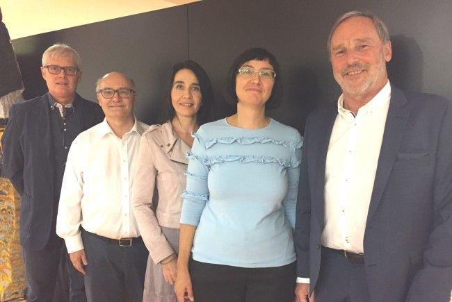 (vlnr) Dir-Stv Mag. Werner Wetzel, Dr. Harald Fessler,  Sarah Zanoni, lic. phil., Dr. Elena Schramm, Dir. Mag. Klemens Voit
