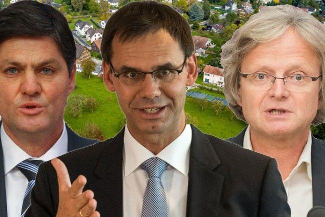 Daniel Allgäuer (FPÖ), LH Markus Wallner und Adi Gross (Grüne).